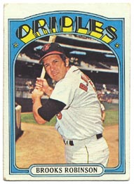 1972 Topps Baseball Cards      550     Brooks Robinson